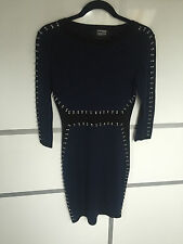 Marcus Lupfer black and blue jewel knit dress Size XS BNWT