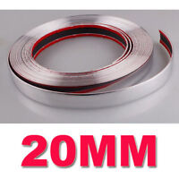 Silver Chrome Car Styling Tuning Moulding Strip Trim Self Adhesive Tape 20mmx15m