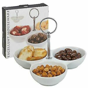 Porcelain Snack Dish - Serving Appetiser Tapas Party Table Dipping Bowl