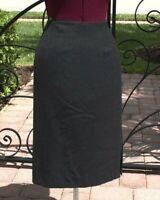 PENDLETON Womens GRAY Lined 100% Virgin Wool Straight Career Skirt I Size 8