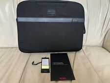 Tumi Alpha laptop sleeve retractable handles outer accessory pockets NWT