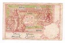 20 Frank/Franc    type  1894  Vermiljoen    12 DEC 1919     Morin 21c