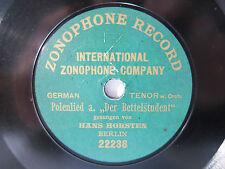 """78rpm 7"""" ZONOPHONE - HANS HORSTEN singt KÜSSEN IST KEINE SÜND !"""