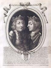 Louis III et Carloman Roi de France par Nicolas II de Larmessin C 1686