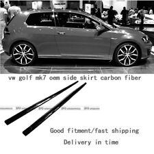 New 2pcs OEM Side Skirt Extension Part For Volkswagen VW Golf 7 GTI Carbon Fiber