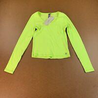Sweaty Betty Women's Size Small Green Long Sleeve Tadasana Ribbed Yoga Top NWT