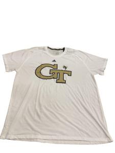 Adidas NCAA Georgia Tech S/S Ultimate Tee White/Yellow  EK0709