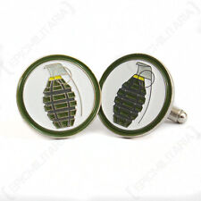 WW2 US Pineapple Grenade Cufflinks - New American USA Army Military Vietnam War