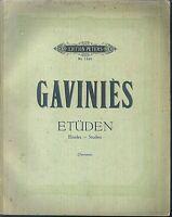GAVINIES ~ Etüden Violine - alt, übergroß