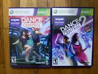 USED Kinect Dance Central 1 + 2  Xbox 360 Game (Lot of 2 Bundle) Free Shipping