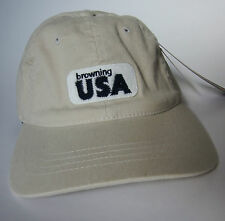 BROWNING hunting hat NEW baseball cap usa patch oyster fitted