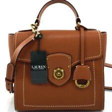 5e777d232b Ralph Lauren Millbrook Crossbody Bag Top Handle Brown Leather Satchel