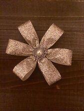 Handmade Champagne Glitter Pearl Flower Wedding Shabby Bridal Cake Baby