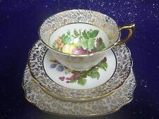 Vintage Aynsley Bone China Tea Cup Trio