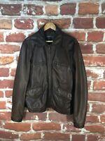 $2k+ John Varvatos XL 44 New York Cafe Racer Bomber Cruiser Moto Leather Jacket