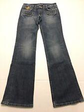 Miss Me Womens Boot Cut Straight Leg Denim Jeans Style# JP4374 Size 28W x 33L