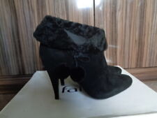 NEW FAITH BLACK 100% SUEDE ANKLE BOOTS  7 RRP £70