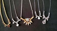 Unbranded Diamante Gold Vintage Costume Jewellery (1950s)