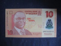 NIGERIA 2009 POLYMER ISSUE-10 NAIRA P39e? DATED 2014 - 7 NUMBER SERIAL UNC
