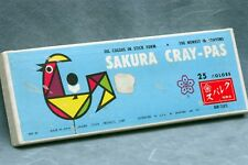 SAKURA CRAY-PAS, 25 OIL COLORS IN STICK FORM, MADE IN JAPAN - FREE USA DELIVERY