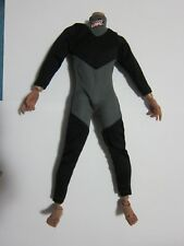 "1/6 Scale Black Grey Wetsuit Diving Swimming suit for 12"" Action Figure Toys"