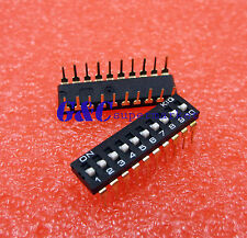 Black 2.54mm Pitch 10-Bit 10 Positions Ways Slide Type DIP Switch J24