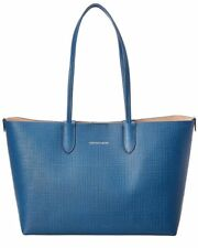 a2e8638701 ALEXANDER MCQUEEN Small Embossed Leather Shopper Tote Bag - Blue Bird BRAND  NEW
