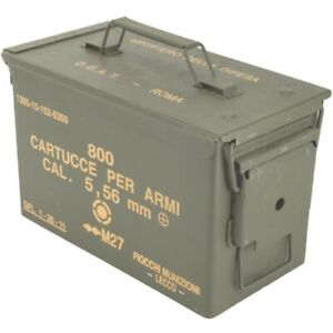 MILITARY ARMY 50 CAL AMMO BOX 5.56 METAL STORAGE CONTAINER TOOL BOX GRADE 1