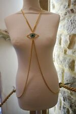BUTLER & WILSON CRYSTAL EYE BODY CHAIN NECKLACE  goth whitby