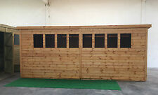 Garden shed 17 x 8 13mm cladding pent roof *FREE INSTALLATION* WINTER SALE!!