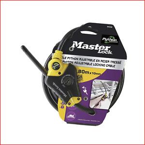 Master Lock Python Disc Cylinder Key Adjustable Braided Steel Cable Lock, 10 x -