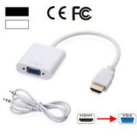1080P HDMI Macho a VGA Hembra con Adaptador de Audio Cable de Video para PC
