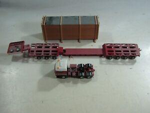658  Kibri H0 Schwerlasttransport mit Zugmaschine und Ladegut lackiert- Max Goll