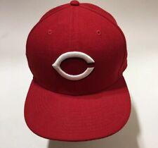 Cincinnati Reds Road On Field New Era 5950 Cap MLB Baseball Fitted Hat sz 7 1/2