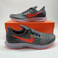 Nike Zoom Pegasus 35 Mens Sz 11 Running Shoes Sneakers Grey Red 942851-006 NEW