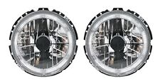 2 PHARE ANGEL EYES VW VOLKSWAGEN GOLF 1 CABRIO 79-93 FEUX AVANT CHROME CROIX
