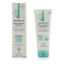 NEW Derma E Natural Mineral Sunscreen Broad Spectrum SPF 30 - Body 113g Womens