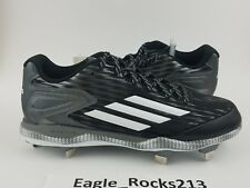 Adidas PowerAlley 3 Men's Metal Baseball Cleats S Size 11 Black White S84762 New