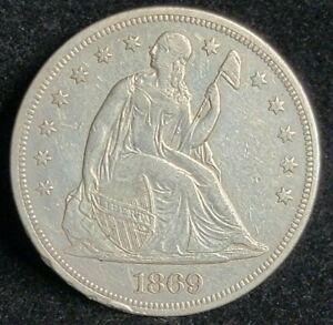 1869 Seated Liberty Silver Dollar