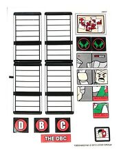 LEGO Super Heroes Spider-Man Window Decals Daily Bugle Showdown Stickers 76005