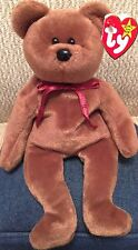 TY Beanie Baby TEDDY New Face BROWN BEAR Teddy Bear! 4th MWMT Bean Bag #04050