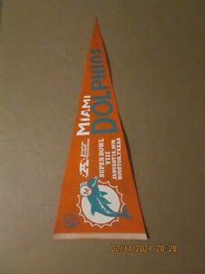 NFL Miami Dolphins Vintage 1974 Super Bowl VIII Team Logo Football Pennant