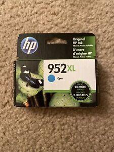 New Genuine HP 952XL Cyan Ink Cartridge High Yield Exp. Aug 2021