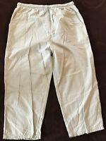 SOVIE mintgrüne Damen 3/4 Bundfalten Hose CARGO Gr XL Gummizug 2 Taschen Baumwol