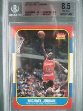1986-87 Fleer #57 Michael Jordan Rookie Rc BGS 8.5 NM-Mint+ 0.5 Away BGS 9 Mint