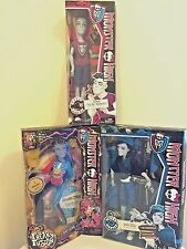NEW Monster High Doll BOY Lot  SLO MO Mortavitch NEIGHTHAN RoT & INVISI Billy