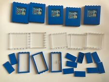 32 lego parts doors windows translucent glass blue parts - from 76082 10724 NEW