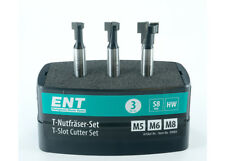 ENT 3-teilige HW 8 mm Schaft T-Nutfr�ser-Set f�r M5, M6, M8 Sechskantschrauben