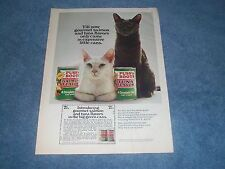 """1970 Puss'n Boots Fish Flavor Cat Food """"Till Now Gourmet Salmon and Tuna Flavors"""