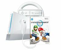 Nintendo Wii Mario Kart Console Starter Bundle + Wheel | Very Good Condition